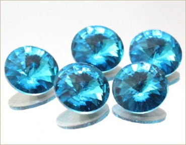 Rivoli 18mm, Aquamarine