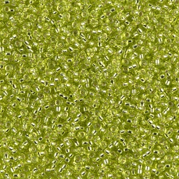 15-0014, Chartreuse Silver Lined, 5g