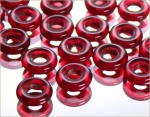 Glass rings 10 mm, RUBY